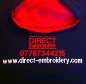 Embroidery, Printing, personalised clothing, embroidered logos